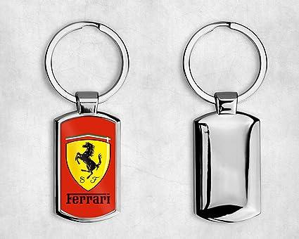 T20 DESIGNS Llavero de Metal con el Logotipo de Ferrari ...
