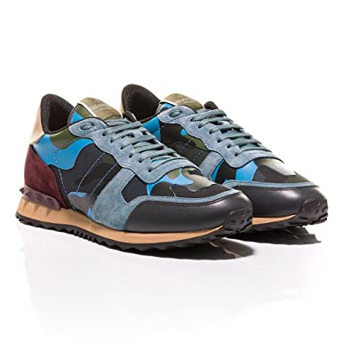 6381d8b573a28 Valentino Rockrunner Camouflage-Print Sneakers (43 EU): Amazon.co.uk ...