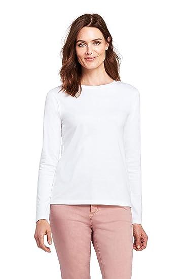 Lands' End Damen Supima Shirt, Langarm