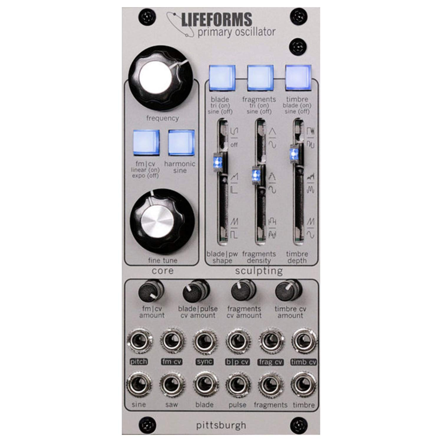 Pittsburgh Modular Lifeforms Primary Oscillator Eurorack Synth Module