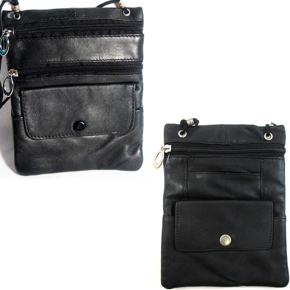 Leather Travel Neck Pouch Holder Passport Id Wallet Black Security Bag Pocket ! MARSHAL WALLET SG/_B001F6M4IO/_US
