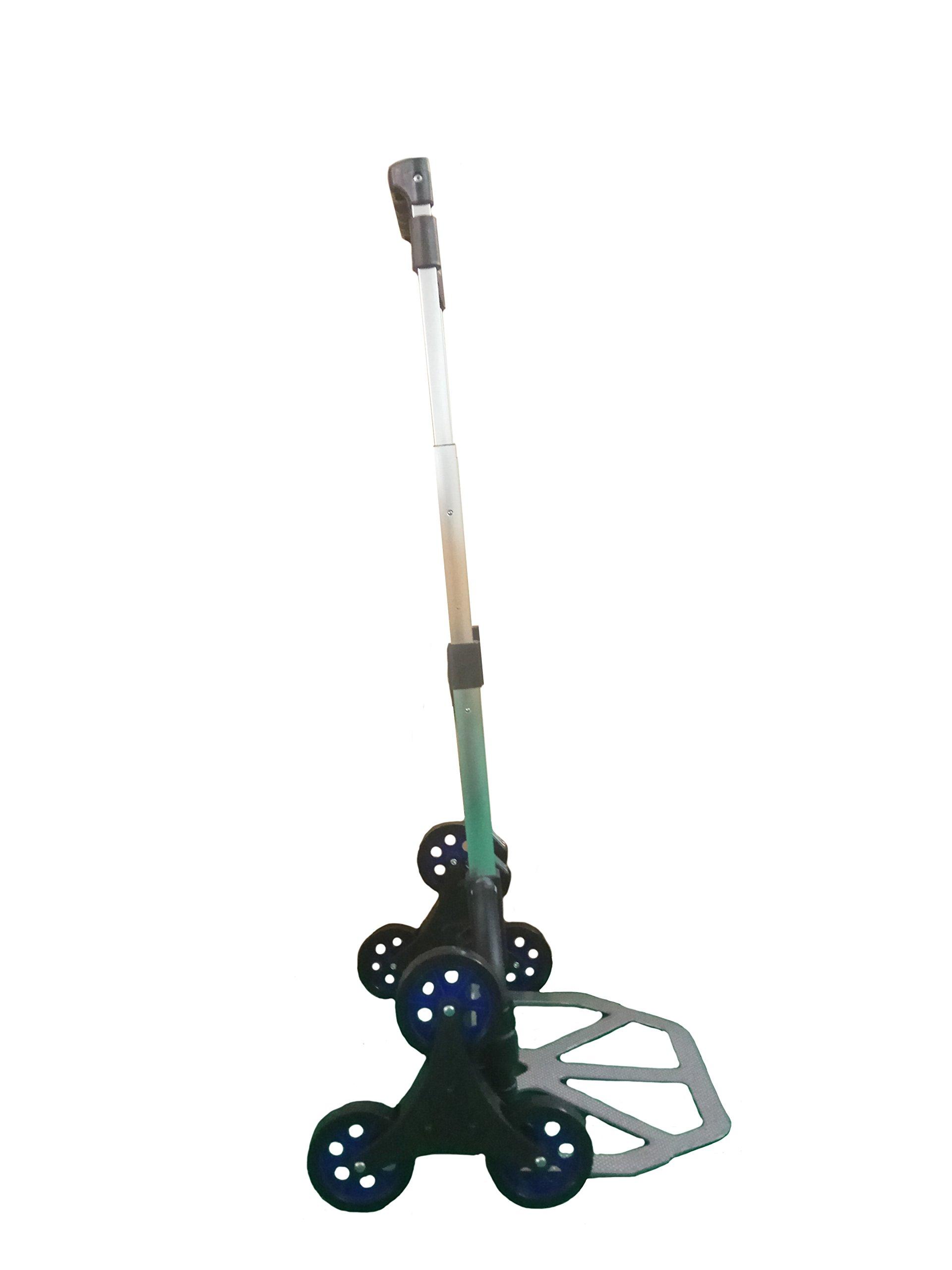 Portable Foldable Stair Climbing Luggage Hand Cart Capacity 150Lbs (Black)