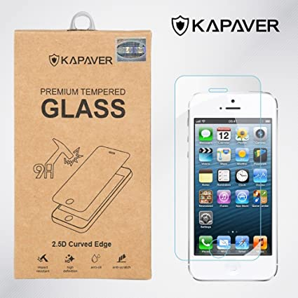 acae356e500 Kapaver iPhone SE/5/5S/5C 2.5D Curved Edge 9H Hardness: Amazon.in ...