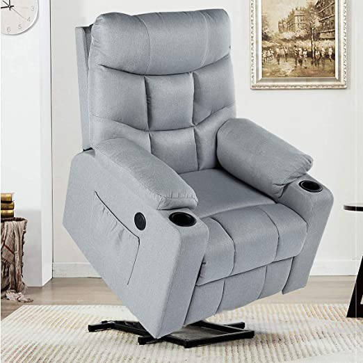 YODOLLA Electric Power Recliner Chair, Recliner Sofa with Massage & Heat  Function, Lazy Boy Recliner Chair with Side Pockets and Cup Holder, USB ...