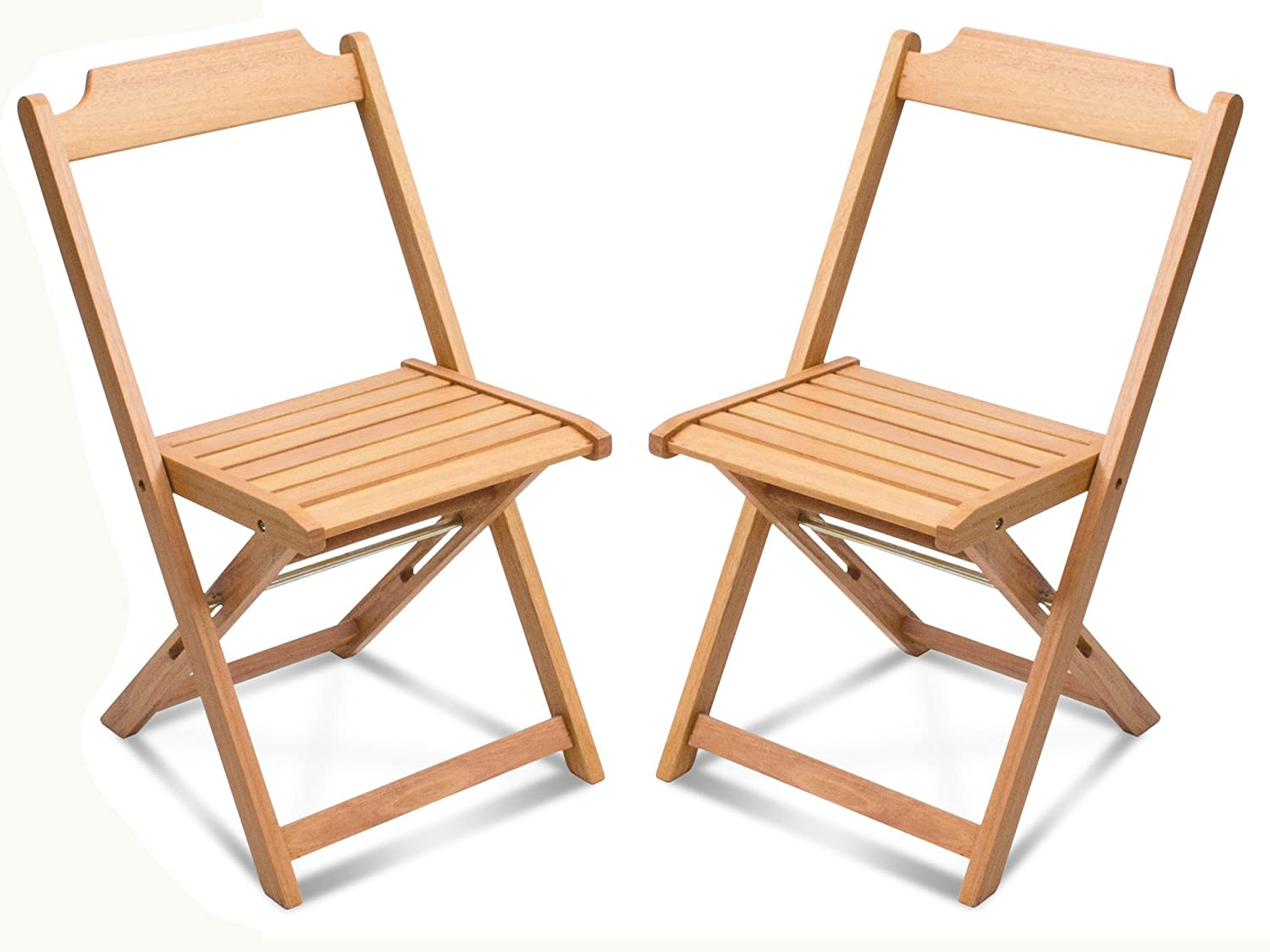 Amazon com wood folding chair set of 2 assembled kitchen dining