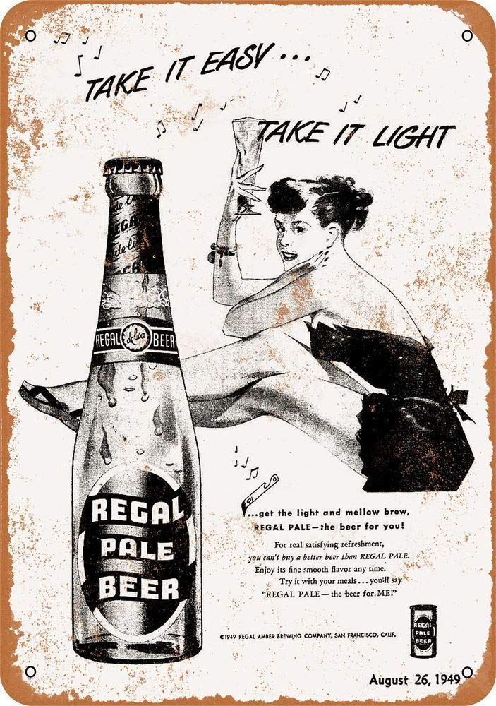 Amazon Com Regal Pale Beer Tin Wall Signs Warning Posters