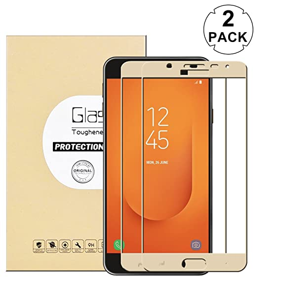 KTTWO Samsung Galaxy J7 Prime 2 Screen Protector Glass, (2PACK) Full  Coverage Anti-Scratch Bubble-Free Tempered Glass Screen Protector with Full  Glue