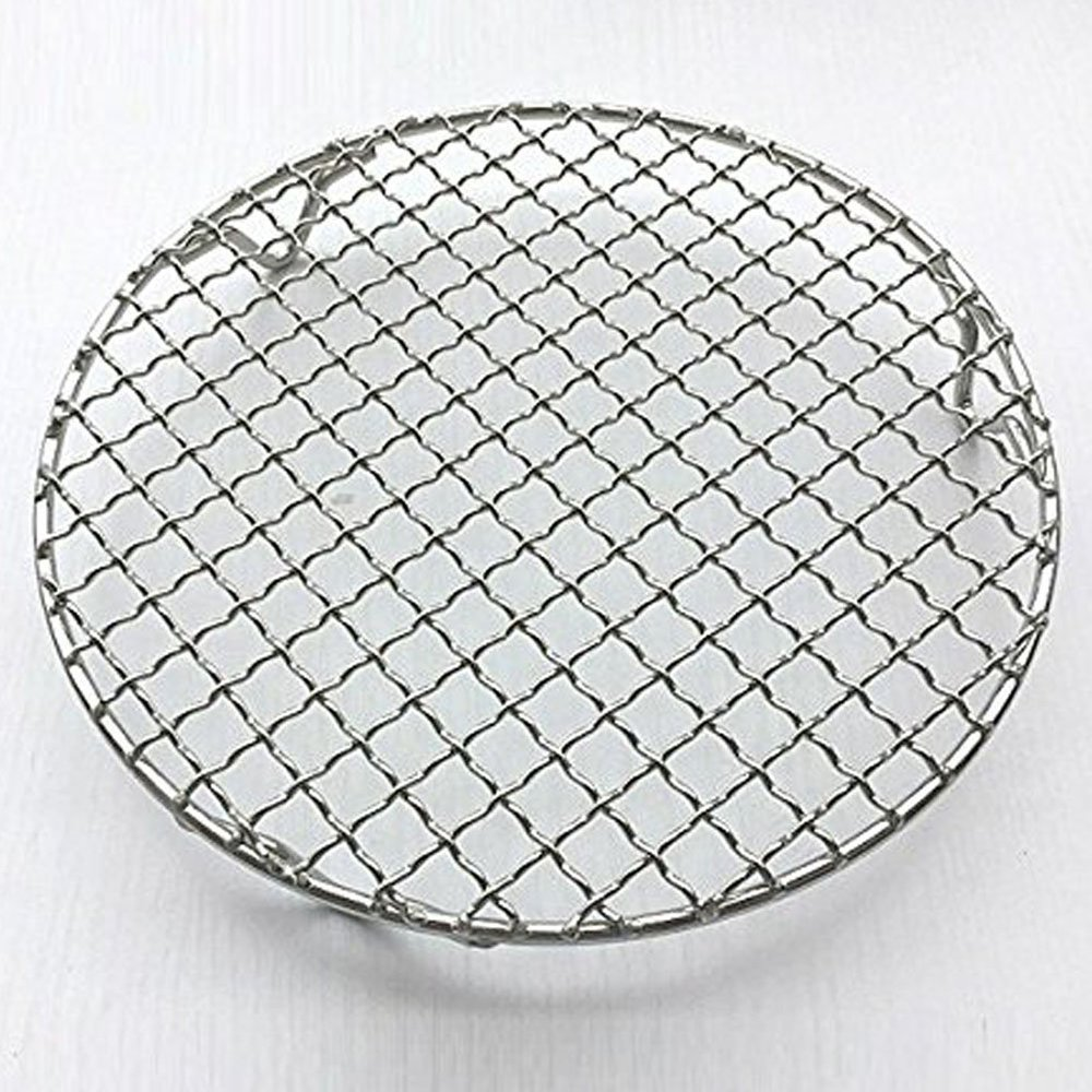 GardenHelper 1Pcs Multi-Purpose Round Stainless Steel Cross Wire Steaming Cooling Barbecue Rack /Grill/Carbon Baking Net /Pan Grate with 3 Legs (Diameter-16.9 inches) by GardenHelper (Image #1)
