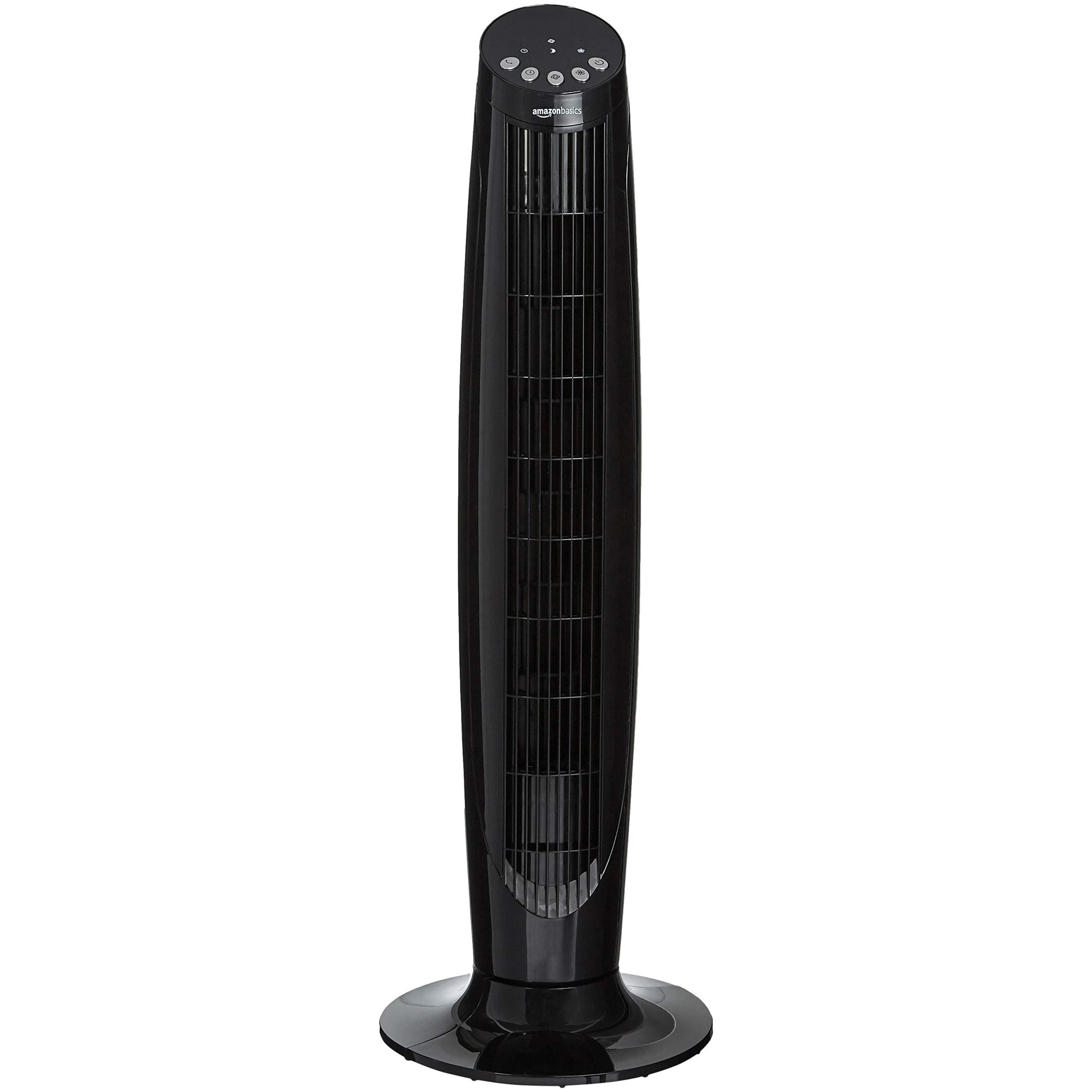 AmazonBasics Digital Oscillating 3 Speed Tower Fan with Remote by AmazonBasics