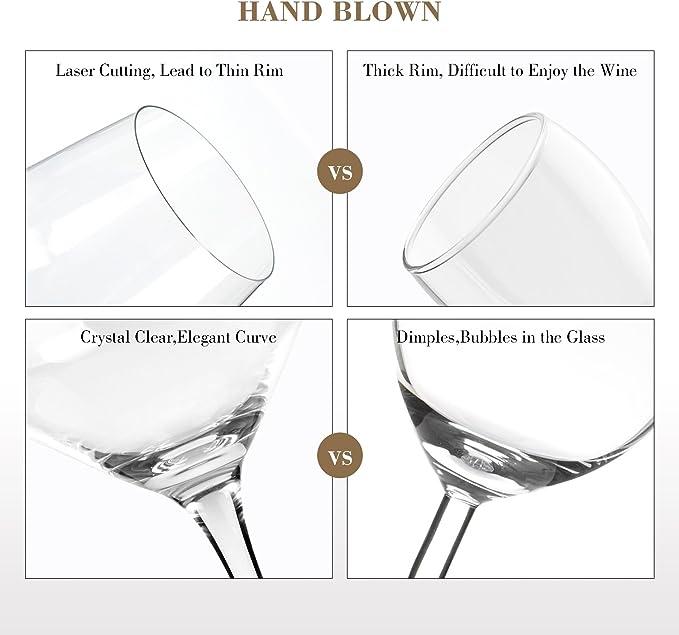 Type 2 Doctor Hetzner 2 Pz Calici da Vino Bianco Calici di Cristallo Bicchiere da Vino Calici da Vino Rosso Senza Piombo