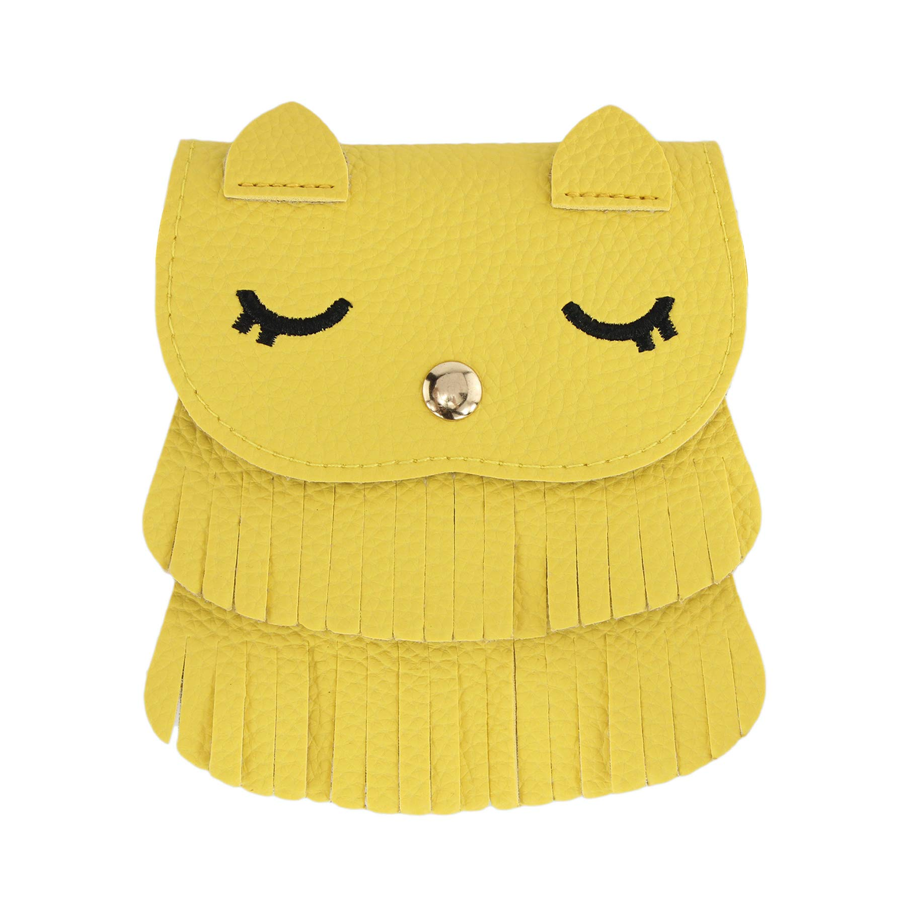 SteamedBun Girls Bags and Purses for Kids Crossbody Mini Halloween Owl Wallet with Tassel (Yellow_large)