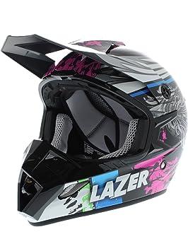 Casco MX Lazer mx8-pure Glass Flash nero-multi Small negro