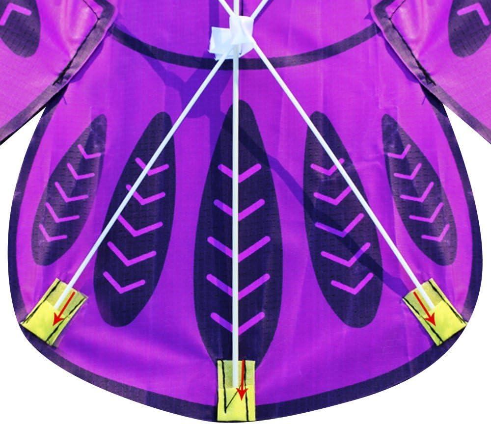Blau Bunte Cartoon Eule fliegenden Drachen mit Drachen Linie Easy Fly Kite mit 50 mt Linie Spielzeug f/ür Kinder Kinder Geschenk Outdoor-Tool