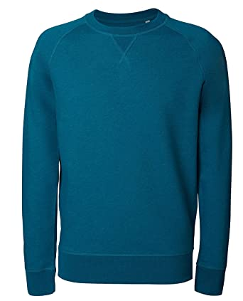 Herren Sweatshirt aus Bio Baumwolle Mix mit 85% Baumwolle und 15% Polyester, Herren Bio Pullover, Pullover Bio, Herren Bio Sweatshirt,Sweatshirt