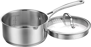 CUISINART 9519-18P Forever Collection Pour Saucepan with Straining Cover, 2 Qt, Stainless Steel