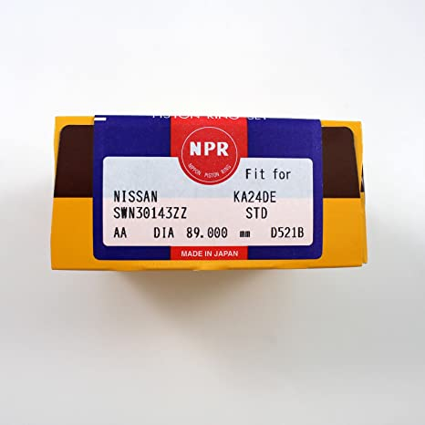 Piston Ring Set Fits 98-04 Nissan Altima Frontier 2.4L L4 DOHC 16v