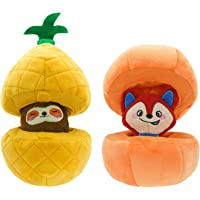 HugSmart Pet -Fruity Critterz   Squeaky Hide and Seek Plush Dog Toys   2-in -1 Cute Interactive Plush Puzzle Toys for…