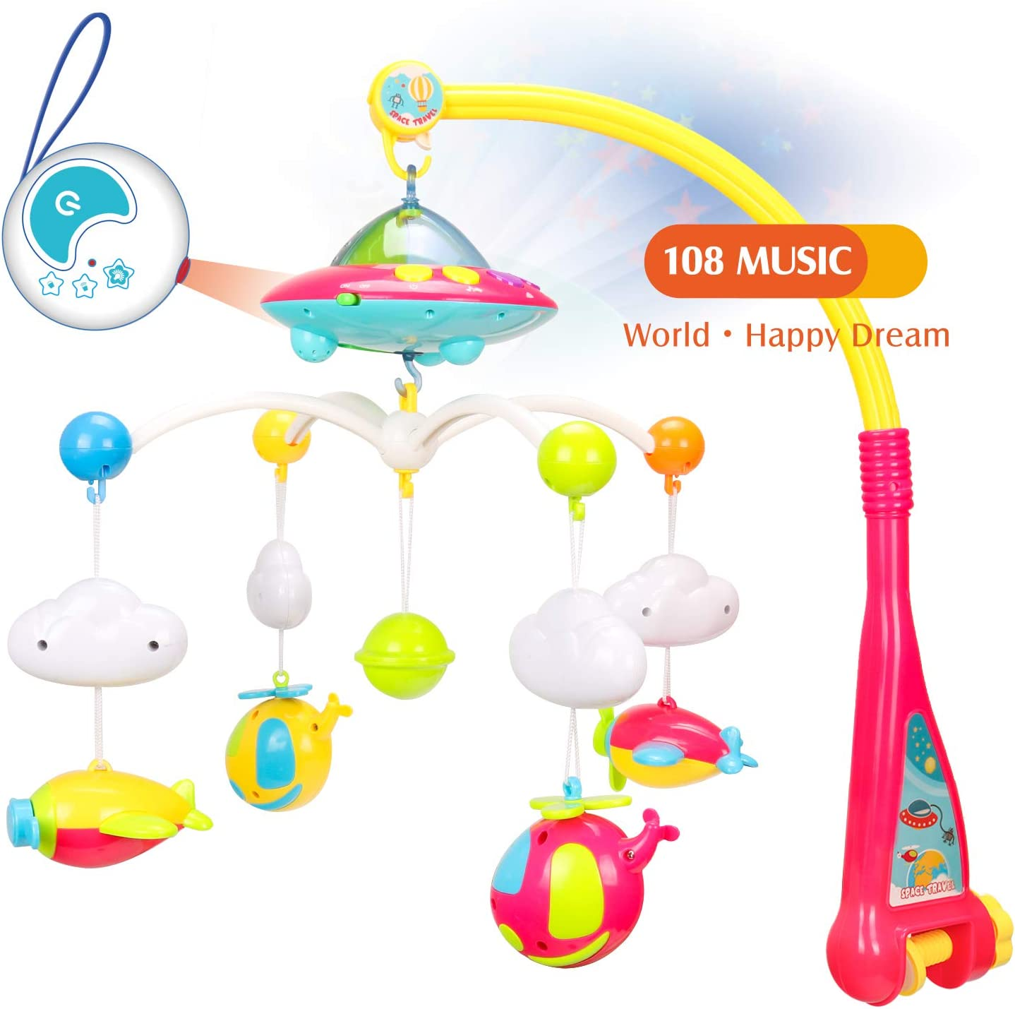 Infant Bedbell Rattle Toy Rotating Musical Baby Bed Mobile Toys Musical Hanging Rotating Bedbell Baby Comfort Cloth Toys Musical Baby Bed Mobile Toys For Cribs Baby Carriage