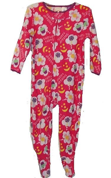 4f22f618e Amazon.com  Girl s 24 Months Pink Fleece Footed Pajama Sleeper ...