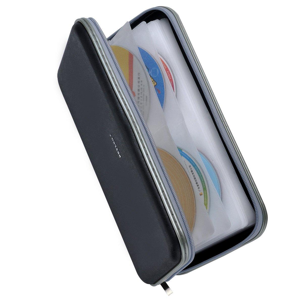Wismart 72 Capacity Heavy Duty CD DVD Blu-ray Media Case Storage Holder Organizer Wallet (Black)