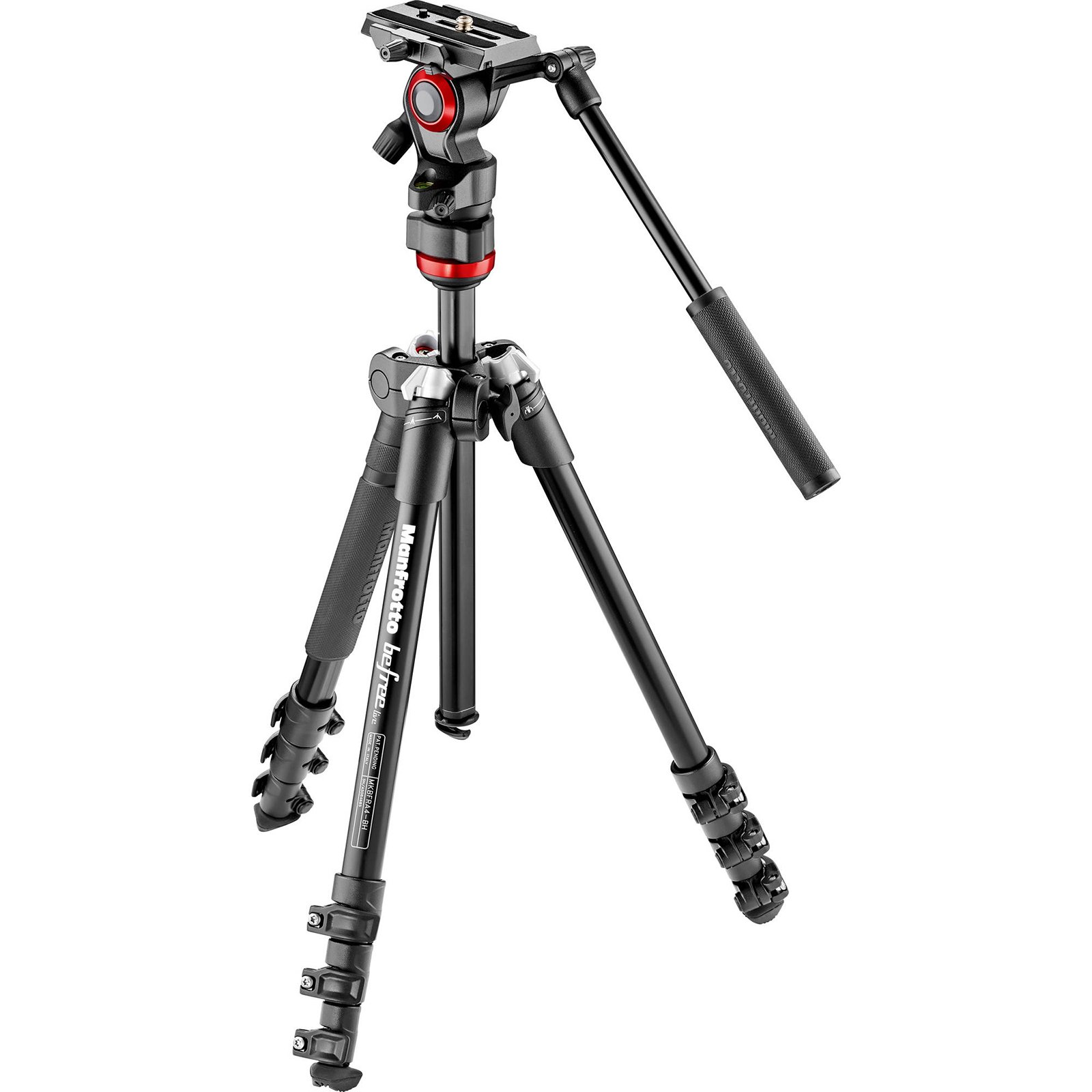 Manfrotto MVKBFR-LIVEUS lightweight, travel friendly Be Free Fluid Video Kit, Black by Manfrotto