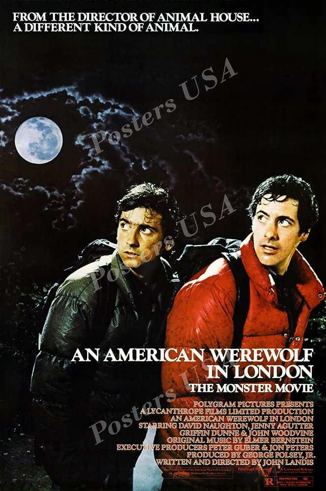 AN AMERICAN WEREWOLF IN LONDON ORIGINAL OFFICIAL MOVIE PRINT PREMIUM POSTER