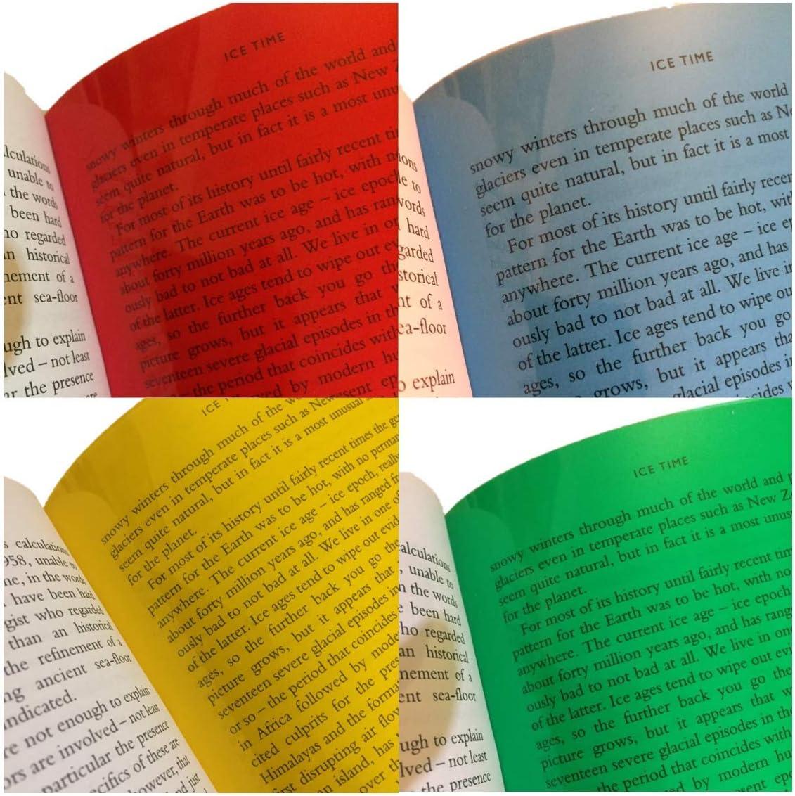 A4 Coloured Overlays Pack Of 4 Red Green Yellow Blue Bürobedarf Schreibwaren