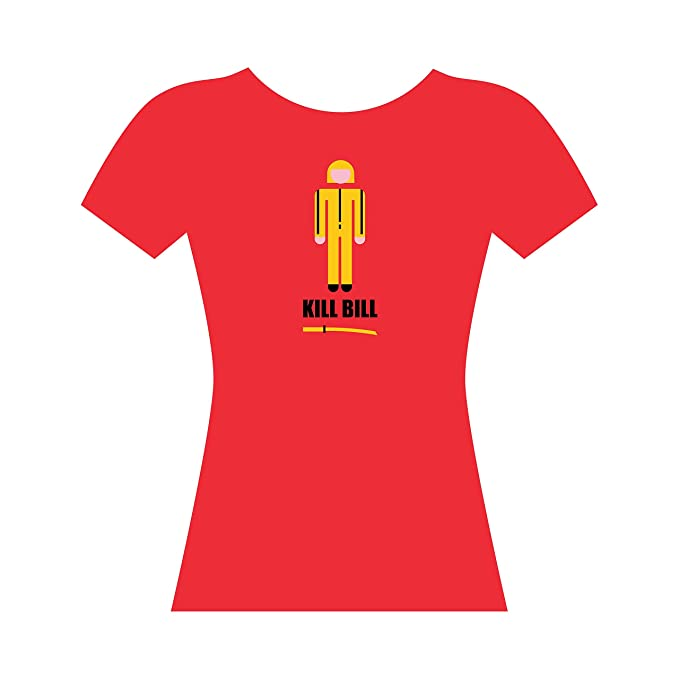 GAMBA TARONJA Kill Bill - Camiseta - Chica - Quentin Tarantino - UMA Thurman: Amazon.es: Ropa y accesorios