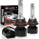 9004/HB1 LED Headlight Bulbs Conversion Kit, DOT Approved, Dual High/Low Beam, SEALIGHT X1 Series Xenon White 6000K, 2 Yr Warranty