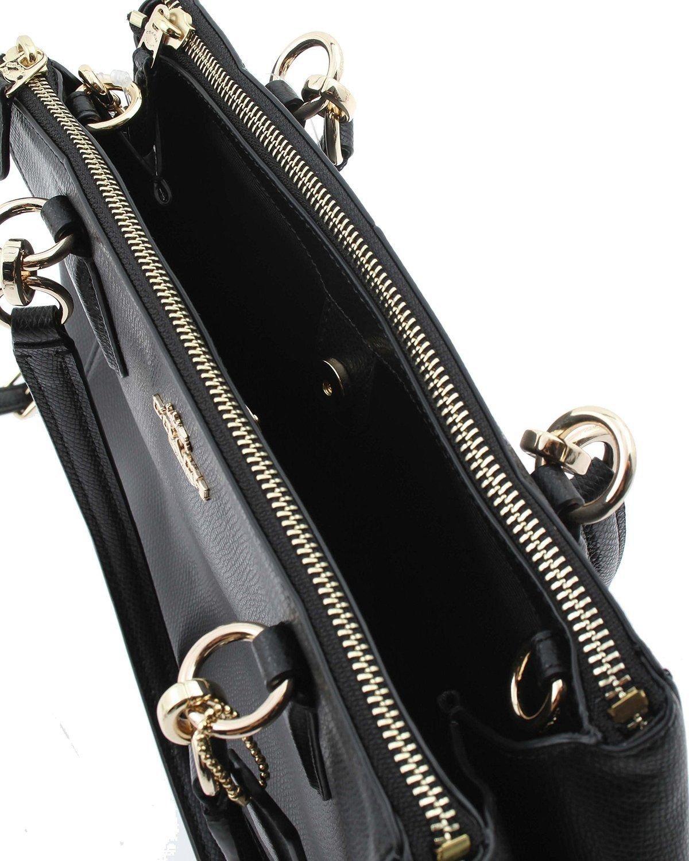 COACH Crossgrain Leather Christie Carryall Shoulder Bag Handbag Black 36606 by Coach (Image #4)