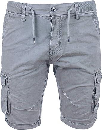 Evoga Pantalones Cortos Para Hombre Modelo Cargo Slim Fit De Algodon Con Bolsillos Laterales Amazon Es Ropa Y Accesorios