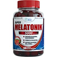 Melatonin Gummies 5mg Chewable Gummy - Adults and Kids Great Tasting Instant Release Sleeping Pills Supplement Plus Works Over Time Best Childrens Sleep Aid (1 Pack)