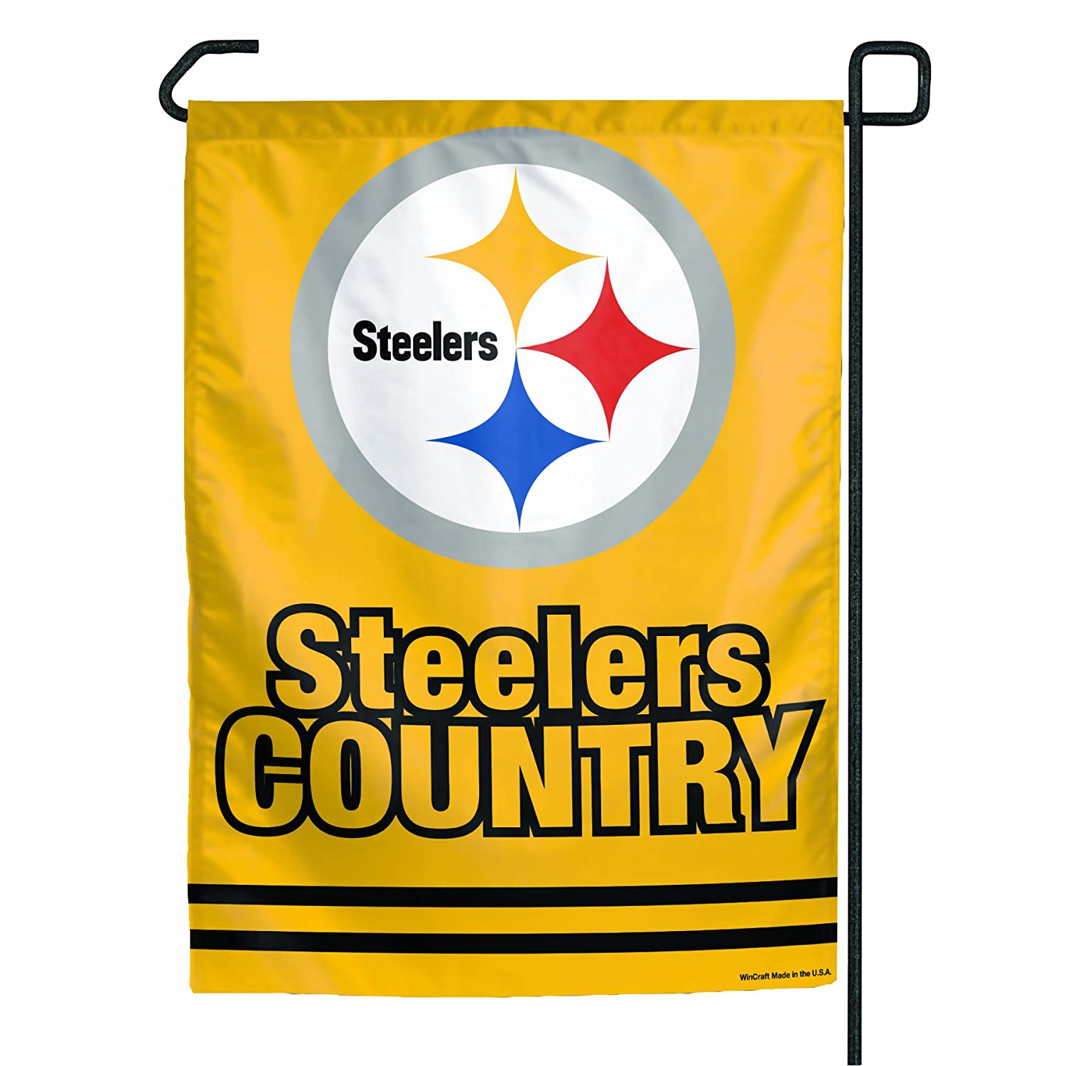 Amazon.com : NFL Pittsburgh Steelers Garden Flag - Steelers Country ...