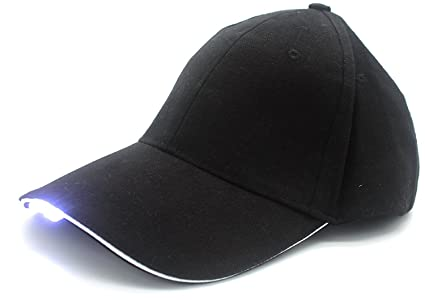 2315817a4ef Hands Free Hat with Headlamp 5 Bright LED Lights Unisex Baseball Cap Easily  Adjustable One Size Fits All Flashlight for Hunting