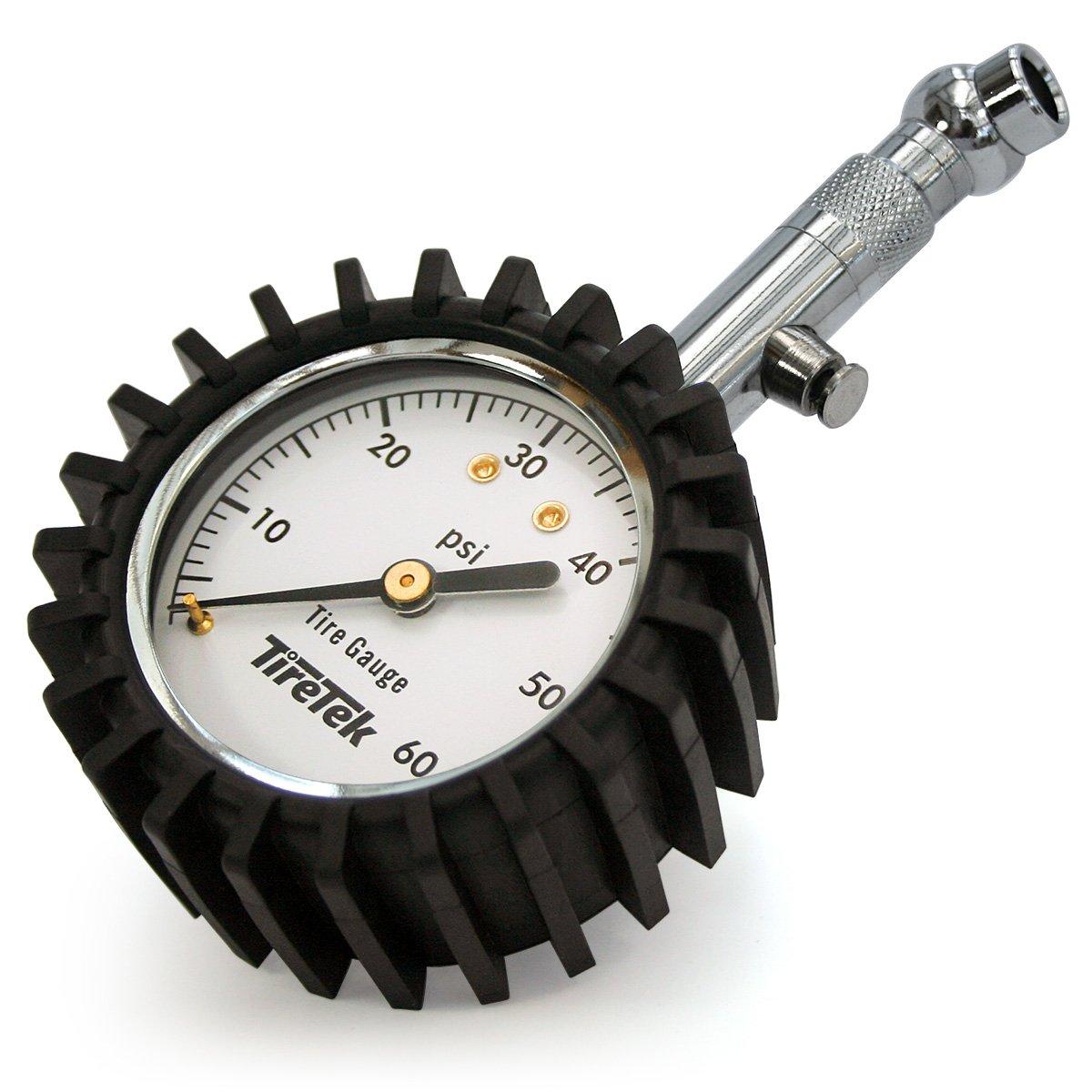 TireTek Premium Car Tire Pressure Gauge 60 PSI - Heavy Duty Tire Gauge ANSI Certified Accurate by TireTek