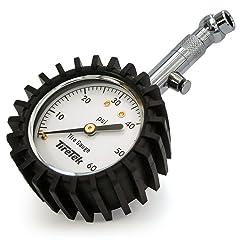 TireTek Premium Tire Pressure Gauge With Integrated Hold Valve - 60PSI