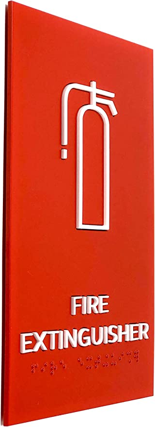 Amazon.com: Kubik Letras Fire Extinguisher Sign, ADA ...