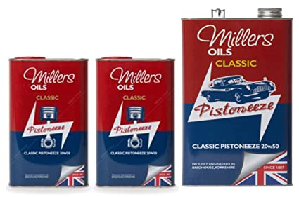 Millers Classic Pistoneeze 20w50 - Aceite mineral para motor, 7 ...