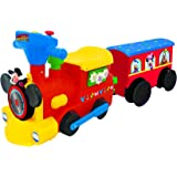 Kiddieland Toys Limited Battery-Powered Mickey Choo with Caboose & Tracks Ride On,Multi,9.5 x 14.25 x 31.5 inches