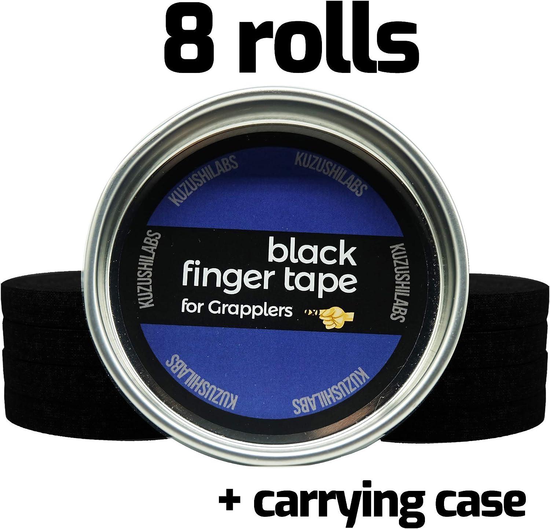 3 Roll Pack Jits Tape Finger tape Black BJJ Judo MMA Jiu Jitsu IBJJF Legal