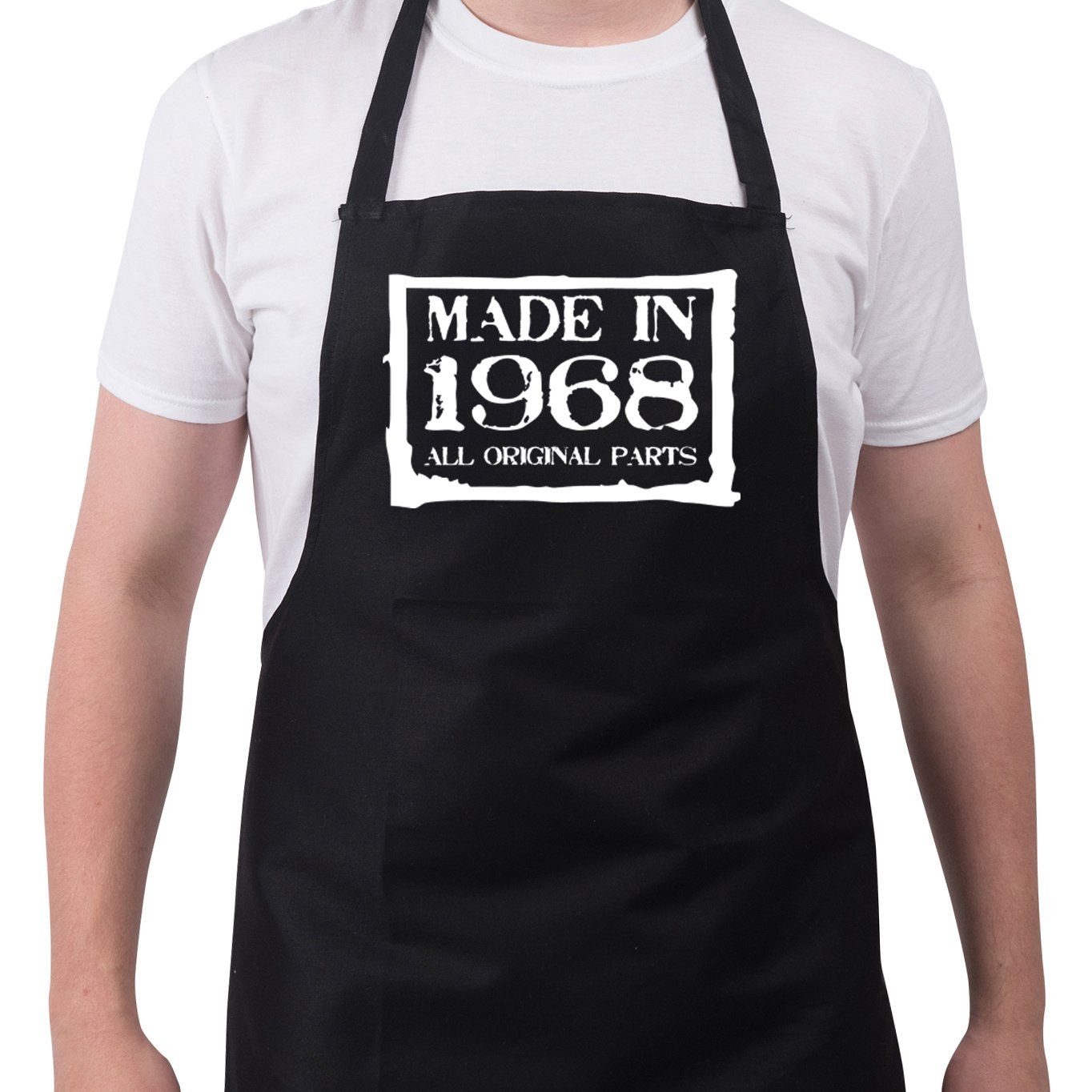 f40ca978 Men\'s birthday Made in 1968 funny bbq kitchen cooking baking aprons. Funny  novelty 50th Birthday gift ideas apron all original parts This funny apron  will ...