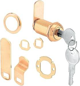 "Prime-Line Products U 9953 Cam Lock, 1-3/8"", Brass"