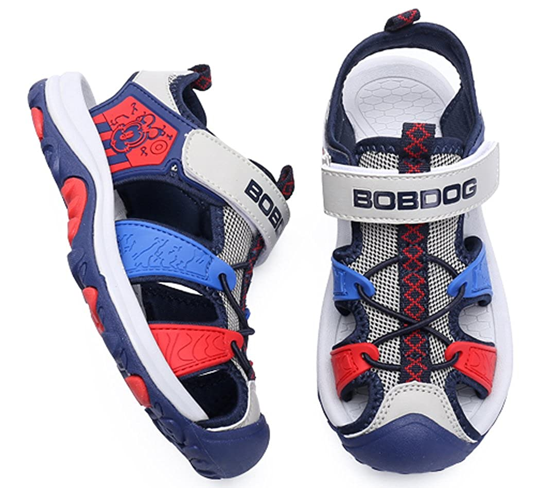 Toddler//Little Kid//Big Kid iDuoDuo Boys Athletic Outdoor Leather and Mesh Closed-Toe Beach Sandals