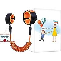 Wimaha 59inch Anti Lost Wrist Link Skin-friendly Cotton Anti Lost Wristband Walk Strap for Children Outdoor Safety(1.5m, Orange)