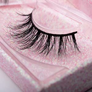 Arimika Fluffy 3D Mink False Eyelashes- Reusable Lightweight, Natural Look With Sturdy Thin Band Lashes Strips