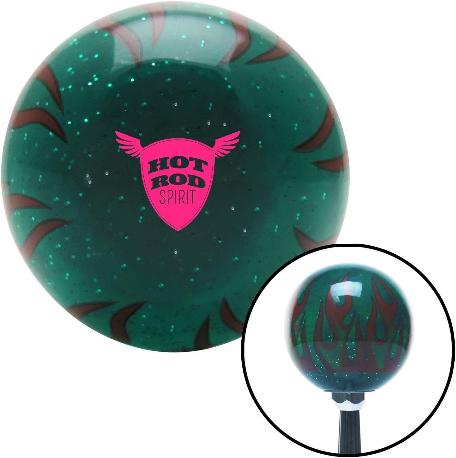 Pink Spade Skull Green Retro Metal Flake American Shifter 292395 Shift Knob