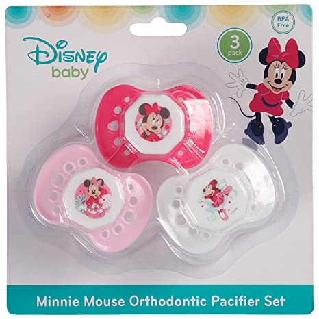 Disney Minnie Mouse - Chupete (3 unidades): Amazon.es: Bebé