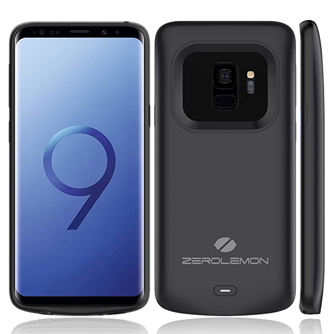 best service a1d53 59294 Galaxy S9 Battery Charging Case, ZeroLemon Slim Power 4700mAh Extended  Battery with Full Edge Protection Charging Case for Galaxy S9 - Black