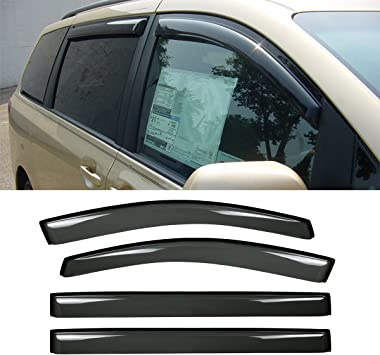 For 11-Up Toyota Sienna In-Channel Side Vent Window Visors Rain Guard Deflectors