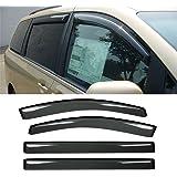 Gevog 4-Piece Side Window Deflector Original Window Visors for 2011-2020 Toyota Sienna Van Smoke Sun Rain Guard Ventvisor